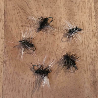Dry Trout Fly Black Griffith's Gnat 5pcs fishing lures size 10 flies
