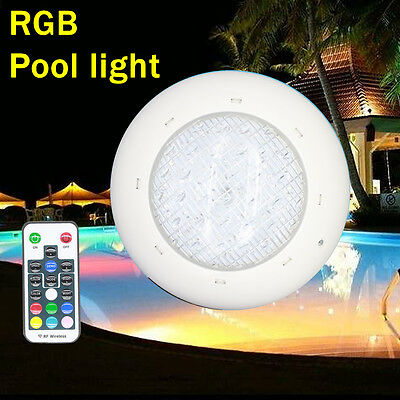 pool underwater led light spa lamp bulb 12V AC/DC 24W 36W RGB + remote control
