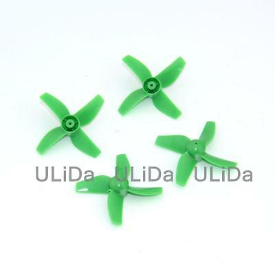 MH Plastic 4-Blade Propeller 31mm/0.8mm Shaft Blade INDUCTRIX JJRC H36 Tiny FPV