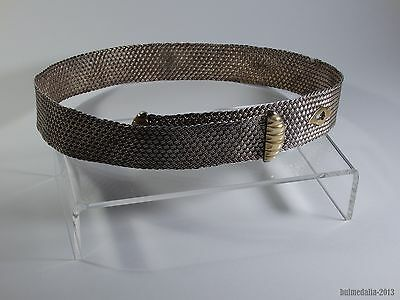 Ottoman Empire-Antique Turkish Gold & Silver-Plated Belt For Costume-19Th C