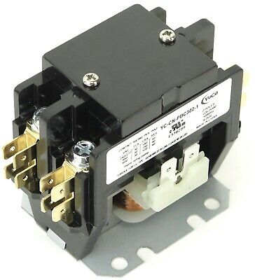 ( 1 ) New Definite Purpose Contactor 2 Pole 30/40Amp CN-PBC302-24V coil
