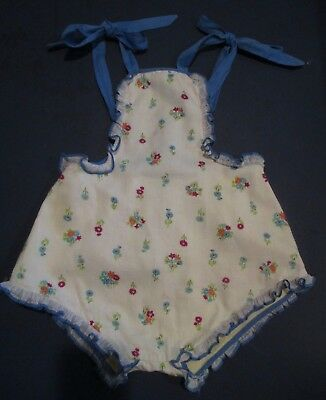 Vintage 1930s Childrens Clothing Romper Playsuit One Piece Print