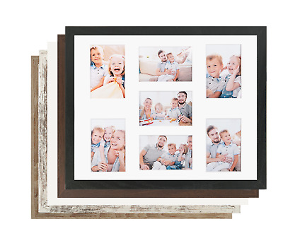 Multi Aperture Photo Frame Gallery for 7 photos 6x4 (10x15cm) 6 colors Modern