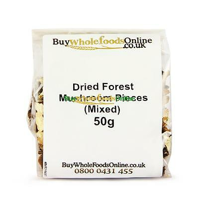Dried Forest Mushroom Pieces (Mixed) 50g