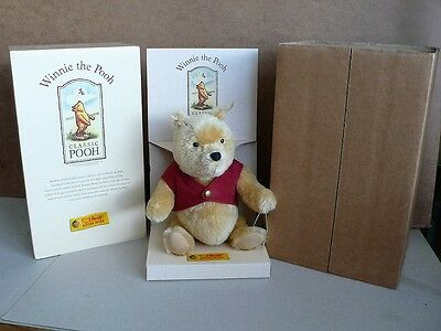 Steiff Winnie The Pooh 651489 Limited Edition Original Box and Outer Sleeve 1999