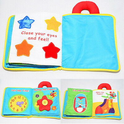 My Quiet Book Soft Baby Plush Toy Gift Color Multi Dimensional Funny Story Book#