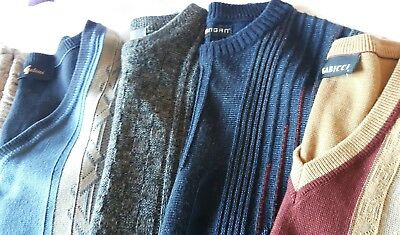 Vintage Patterned Jumpers X8 Job lot  mens  gabicci and others  good condition