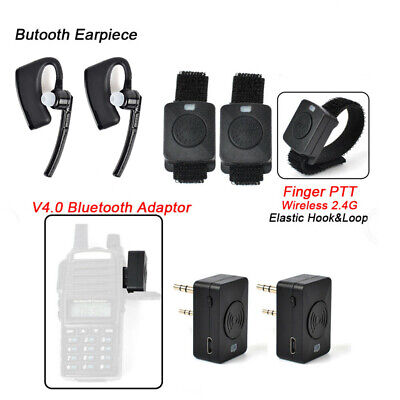 Wireless Headset Earpiece Bluetooth for KENWOOD TYT BAOFENG Wouxun Walkie Talkie