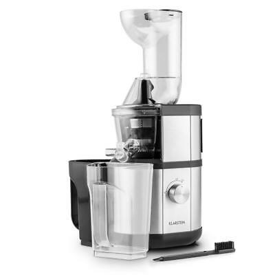Klarstein Fruitberry Slow Juicer 400W 60 Rpm Filler Tube Ø8.5Cm Stainless Steel