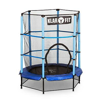 Klarfit Rocketkid Trampoline 140 cm 4.5 ft Safety Net Bungee Rebounder - Blue