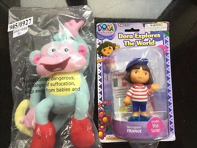 Dora The Explorer Doll Figure Toy Dora Explores The World FRANCE FREE  Monkey