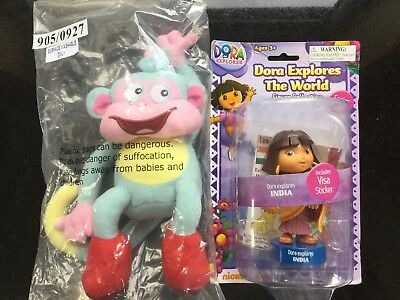 Dora The Explorer Doll Figure Toy Dora Explores The World INDIA  FREE  Monkey