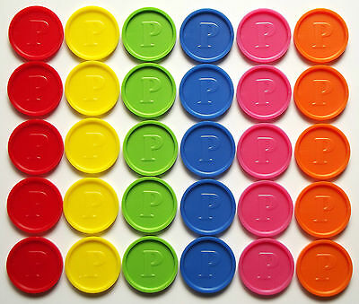 Deposit Coins Tokens 26mm Embossing -P- Colours & Quantities Selectable ekw-p-10