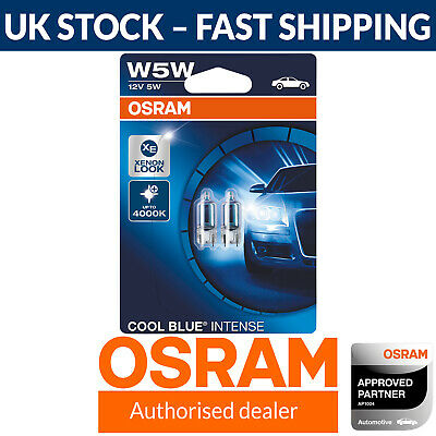 OSRAM Cool Blue Intense W5W Car Side Light Bulbs Number Plate (Twin Pack)