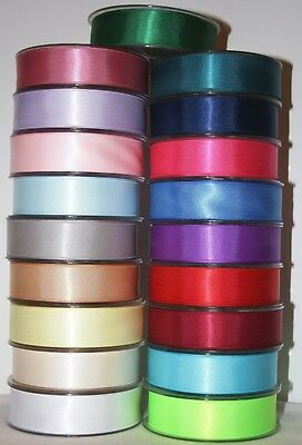 Full Reel Of Satin Ribbon 25Mm X 20 Metres Double Faced  Crafts Sewing Gifts