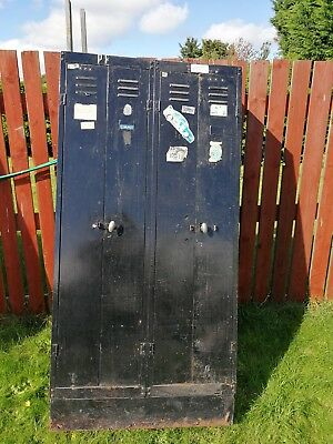 VINTAGE INDUSTRIAL LOCKER.shabby chic project storage metal