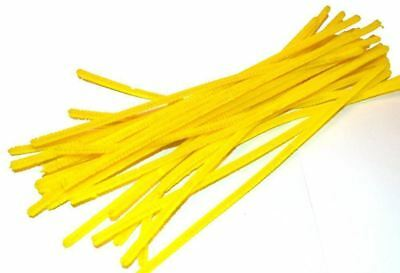 """50 Pc 6mm 12""""/30CM Chenille Pipe Cleaners Craft Stems DIY Art & Craft"""