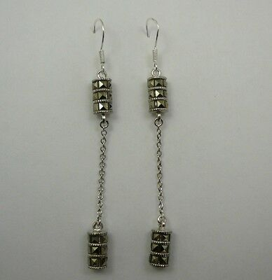 Gorgeous Sterling Silver Marcasite Chandelier Earrings