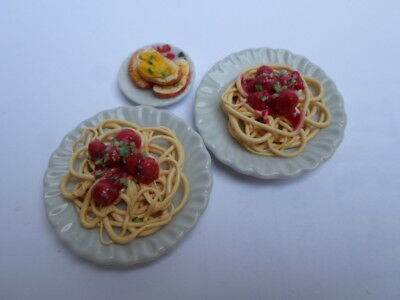Barbie Sindy doll food spaghetti and meatballs for two