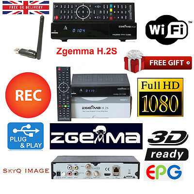 Latest Zgemma H2S Hd  Box With 12 Months Free Iptv+Wifi Antenna Plug And Play!!