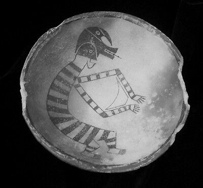 Anasazi Mimbres Serpent Dancer Bowl Replication