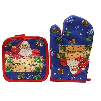 New Christmas Decorative Microwave Oven Mat Set Christmas Gloves Home Decoration