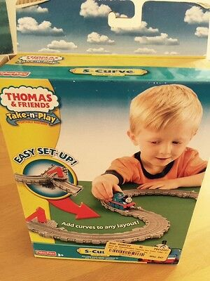 Thomas the Train, Take-n-play S-Curve Fold Out Track - Open Box