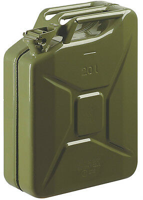 STEEL JERRY CAN OLIVE GREEN 10 Ltr