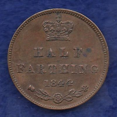 Great Britain, Victoria, 1844 Half Farthing, Better Grade (Ref. c6149)
