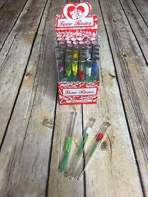 "10 Count Tiny Silk Love Roses in 4"" Glass Tubes"