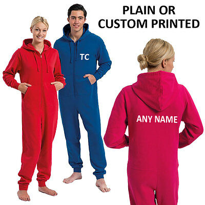 Unisex Adult All-in-one, Personalised Jumpsuit, Bodysuit, Plain or Printed