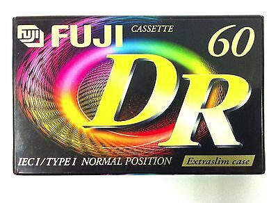 Fuji DR60 Ferric Blank Audio Cassette 60 Minute Tape New Sealed Stock