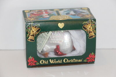 New Old World Christmas Glass Ornament Golden Goose
