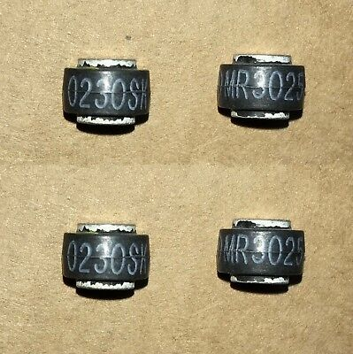 Four (4) Button Rectifier Diodes MICRODE MR3025 TRA2525 250V 25 Amp  B2