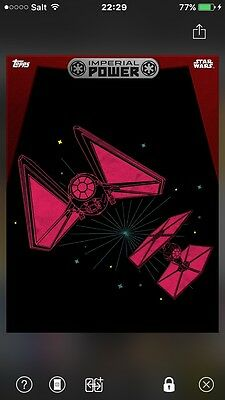 TOPPS Star Wars Card Trader: Rogue One - Imperial Power - Tie Fighter Red (1 car