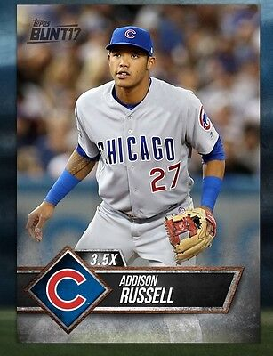 TOPPS DIGITAL Bunt 17 Card Trader: Black Base 3.5x Boost: Addison Russell (1 car
