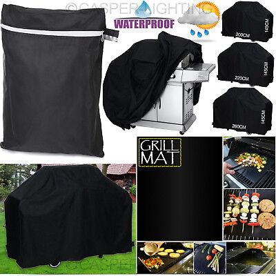 Large BBQ Cover Heavy Duty Rain Snow Waterproof Barbeque Grill Protect Grill Mat