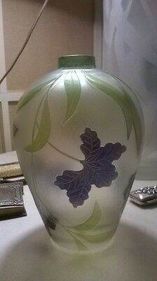 Elegant Galle' style vase. BEAUTIFUL !