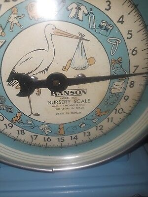1950s Hanson baby scale fully restored