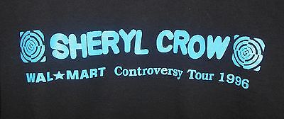 Vintage SHERYL CROW Concert CONTROVERSY Tour XL T-Shirt Black Long Sleeve