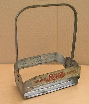 1940's Pepsi Bottle Carrier Double Dot Metal Embossed Union Products New Jersey