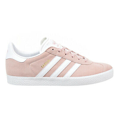 Adidas Gazelle J Big Kids Shoes Ice-Pink/Gold/White by9544