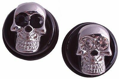 Flesh Saddle Plug Motiv Totenkopf Kristall Plugs