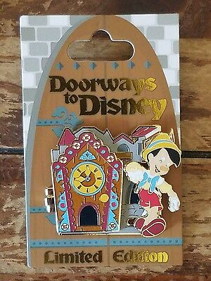 Pinocchio and Jiminy Cricket Doorways To Disney Pin Limited Edition 4000