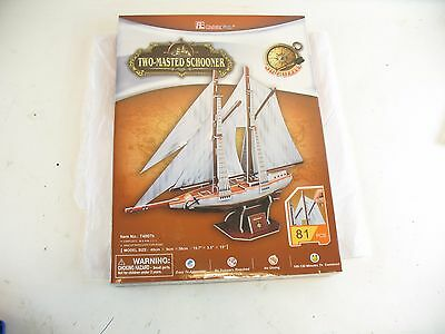 Two Masted Schooner 3D Puzzle