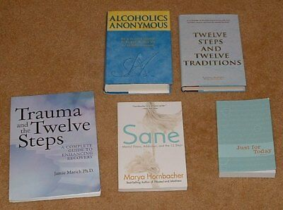 Alcoholics Anonymous Book Lot - 5 Brand New Books Twelve Steps Just For Today ..
