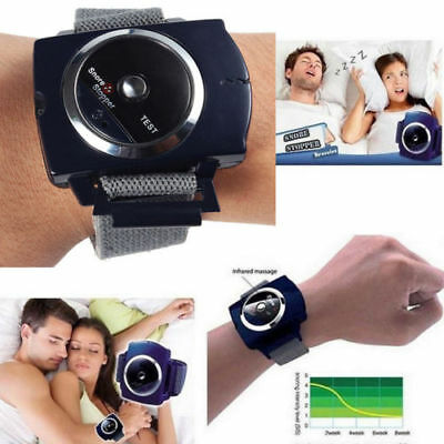 UK Anti Snore Stopper Wristband Device Intelligent Infrared Stop Snoring Aid