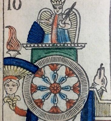 c1845 Wheel of Fortune Authentic Major Arcana Tarot Playing Cards Single