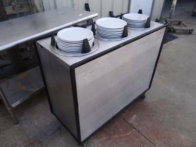 Apw Wyott Ml3-10 Mobile Plate Dispenser With 3 Enclosed Lowerators