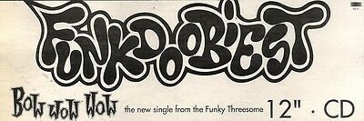 3/7/93Pgn21 Bow Wow Wow : Funkdoobiest Single Advert 4X11""